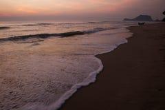 Spiaggia di Pranburi, Prachuap Khiri Khan, Tailandia fotografia stock libera da diritti