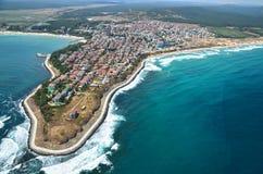 Spiaggia di Primorsko, Bulgaria Fotografia Stock Libera da Diritti
