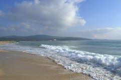Spiaggia di Primorsko, Bulgaria Fotografia Stock