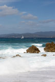 Spiaggia di Propriano Corse - in Francia Fotografia Stock Libera da Diritti