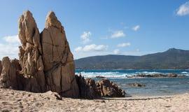 Spiaggia di Propriano Corse - in Francia Fotografie Stock