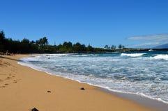 Spiaggia di Puamana, Maui Immagine Stock Libera da Diritti