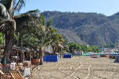 Spiaggia di Puerto Lopez Immagini Stock Libere da Diritti