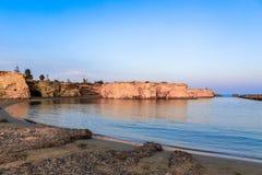 Spiaggia di Punta Cirica al tramonto fotografia stock