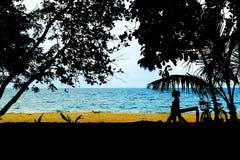 Spiaggia di Punta Uva a Puerto Viejo, Costa Rica Fotografia Stock Libera da Diritti