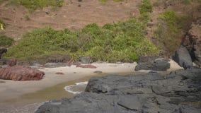 Spiaggia di Querim, Goa Immagini Stock