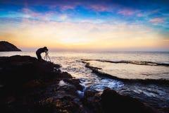 Spiaggia di rai di caduta, Vietnam fotografie stock
