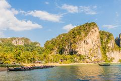 Spiaggia di Railay in Krabi Tailandia fotografia stock