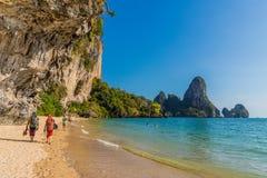 Spiaggia di Railay in Krabi Tailandia immagine stock libera da diritti