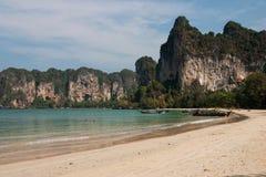 Spiaggia di Rallay, Krabi, Tailandia immagini stock