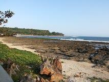 Spiaggia di Rancabuaya Fotografia Stock