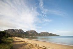 Spiaggia di Richardsons, sosta nazionale di Freycinet Fotografia Stock Libera da Diritti