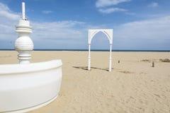 Spiaggia di Rimini Immagini Stock