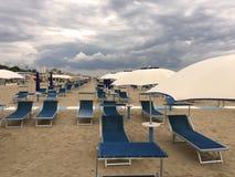 Spiaggia di Rimini in Italia Fotografia Stock Libera da Diritti