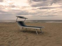 Spiaggia di Rimini in Italia Fotografie Stock Libere da Diritti