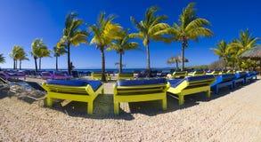 Spiaggia di Roatan Immagine Stock