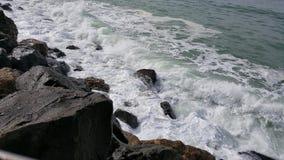 Spiaggia di Rockaway, Pacifica, California immagine stock libera da diritti