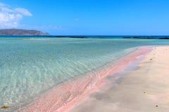 Spiaggia di rosa di Elafonisi immagine stock