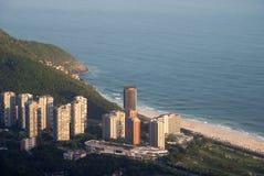 Spiaggia di São Conrado fotografia stock libera da diritti
