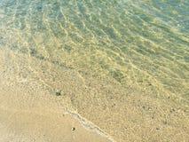 Spiaggia di sabbia Immagini Stock Libere da Diritti