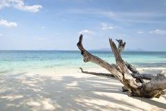 Spiaggia di sabbia bianca Fotografie Stock Libere da Diritti