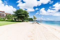 Spiaggia di sabbia bianca in Bali Immagini Stock Libere da Diritti