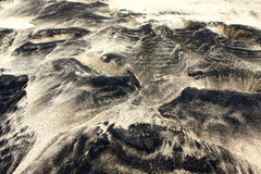Spiaggia di sabbia bianca e nera Fotografia Stock Libera da Diritti