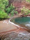 Spiaggia di sabbia di rosso di Maui Immagini Stock Libere da Diritti
