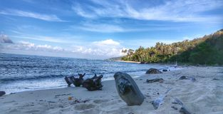 Spiaggia di sabbia naturale immagine stock