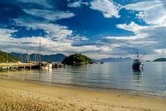 Spiaggia di sabbia nel Brasile Fotografie Stock