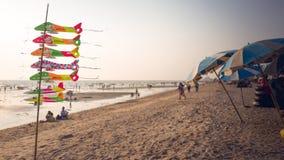Spiaggia di Saen di colpo, Chonburi, Tailandia Fotografie Stock