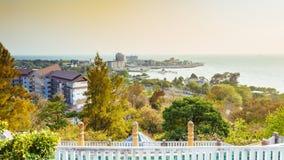 Spiaggia di Saen di colpo, Chonburi, Tailandia Fotografie Stock Libere da Diritti