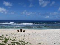 Spiaggia di Saipan fotografie stock