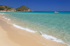 Spiaggia di San Pietro, Castiadas Fotos de Stock Royalty Free