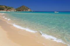 Spiaggia di San Pietro, Castiadas. Spiaggia di San Pietro a Castiadas, vicino a Costa Rey, Sardegna Royalty Free Stock Photos