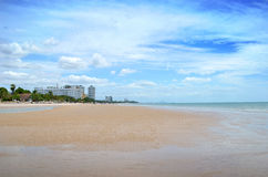 Spiaggia di Sandy Fotografie Stock
