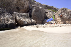 Spiaggia di Sandy, Majorca Fotografia Stock