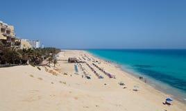 Spiaggia di Sandy Playa del Matorral Immagini Stock Libere da Diritti
