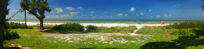 Spiaggia di Sanibel, Sanibel Florida Fotografia Stock