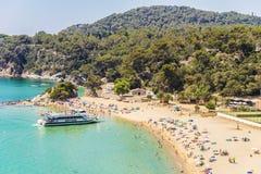 Spiaggia di Santa Cristina, Catalogna, Spagna Fotografia Stock Libera da Diritti