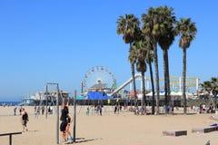 Spiaggia di Santa Monica Fotografia Stock