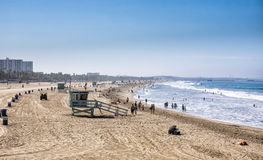 Spiaggia di Santa Monica, Los Angeles, California Immagini Stock Libere da Diritti