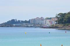 Spiaggia di Sanxenxo Fotografie Stock Libere da Diritti