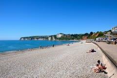 Spiaggia di Seaton immagini stock