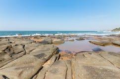 Spiaggia di Seffield Fotografie Stock