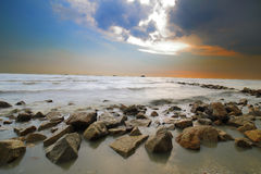 Spiaggia di Sekinchan Immagine Stock