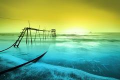 Spiaggia di Sekinchan Immagini Stock Libere da Diritti