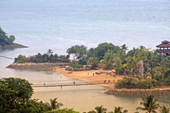 Spiaggia di Sentosa Immagini Stock Libere da Diritti