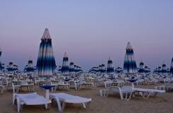 Spiaggia di sera Fotografie Stock Libere da Diritti
