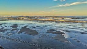 Spiaggia di sera Fotografia Stock